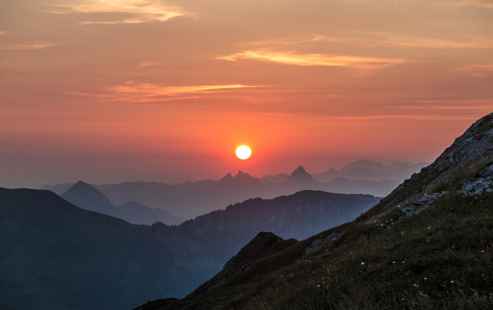 Sonnenaufgang am Arvigrat, OW