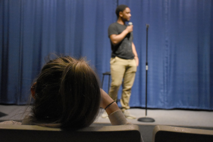 Students have signed up to perform at open mic night on Tuesday, March 26, 2019 in 113 Carnegie. Second Floor Standup is a club that consists of mostly men as do the majority of comedy clubs at Penn State.