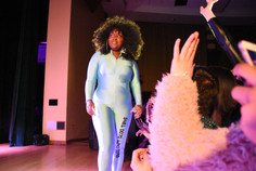 Cupcakke performs her music at a collaborative drag show and concert with PSU Opulence and Asylum in Heritage Hall on Saturday, March 23, 2019. Having issues with the speaker system, Cupcakke demanded the audio be fixed before continuing her performance.