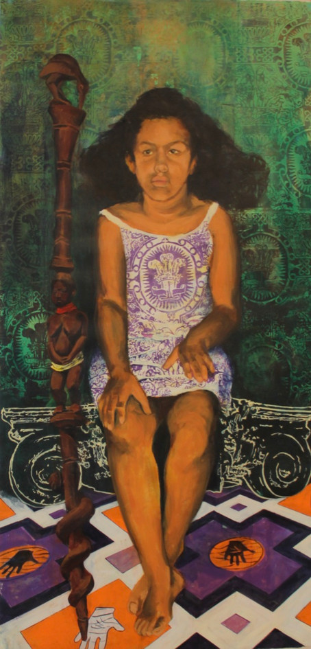 Painting of Isabel, 2004