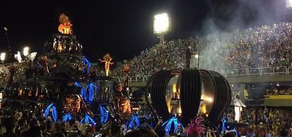 No carnaval do Rio