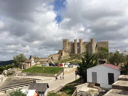 Na vila de Óbidos