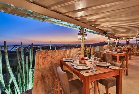Jantando com vista em Curaçao