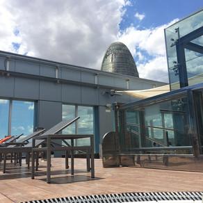 No terraço do Novotel Barcelona