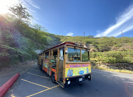Trilha em Diamond Head com a Waikiki Trolley, no Hawaii