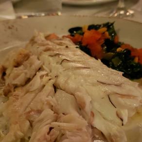 A gastronomia dos frutos do mar do restaurante Barceloneta