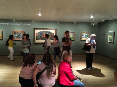 No Museu Van Gogh em Amsterdam
