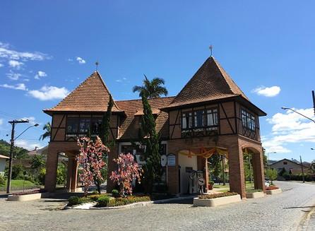 Chegamos em Pomerode, em Santa Catarina