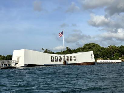 Em Pearl Harbor com a Aloha Hawaii Tours