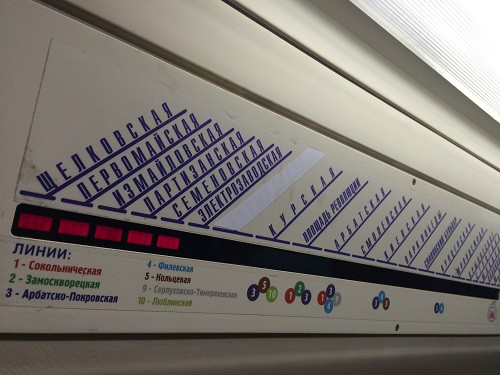 Painel do metrô