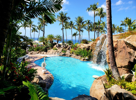 Na piscina do Grand Wailea Resort Hotel & Spa, em Maui