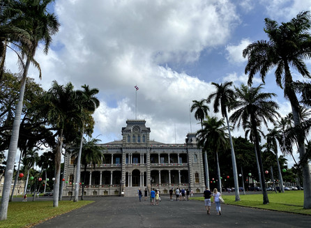 No Iolani Palace na Ilha de Oahu no Hawaii