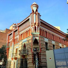 Na Casa Vicens, de Antoní Gaudi, em Barcelona