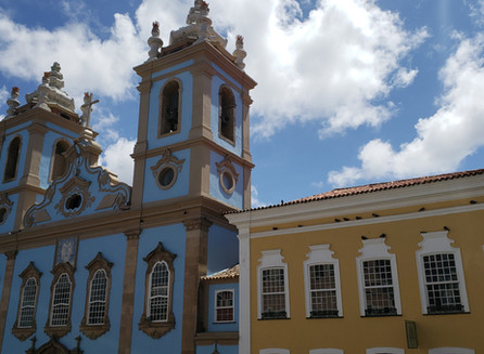 A Igreja do Rosário dos Homens Pretos em Salvador na Bahia