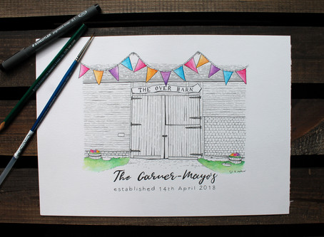 Personalised Wedding Gifts - A guide to creating my one of a kind illustrations