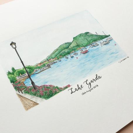 Lake Garda - Gift Illustration