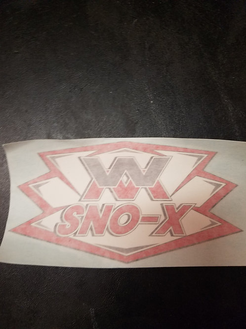 "Wmichigansno-x logo decal 6"""