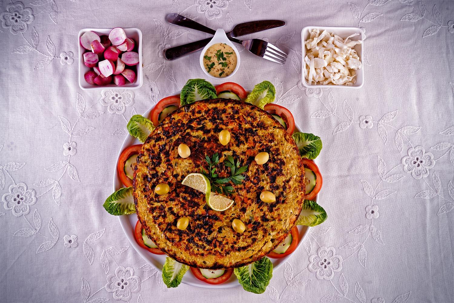 Tortilla aux gros légumes