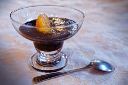 Mousse au chocolat orangée