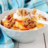 Greek-Yogurt-drizzled-with-Honey-and-Wal