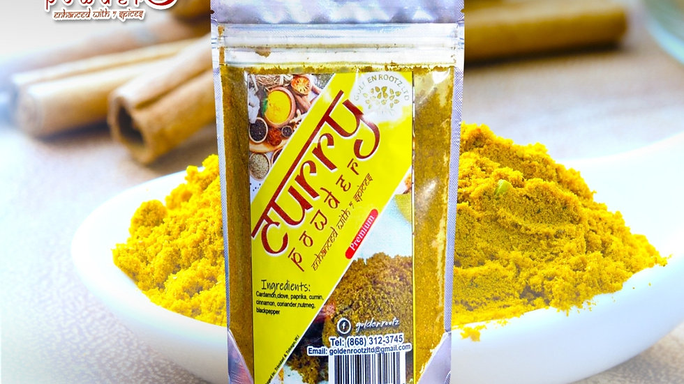 CURRY POWDER ENHANCED WITH 7 SPICES  (2 PACKS) 1 oz