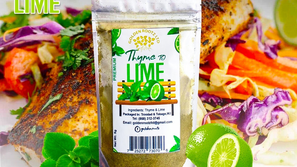 Dehydrated Thyme and Lime INGREDIENTS:  DEHYDRATED  THYME & LIME 5grams