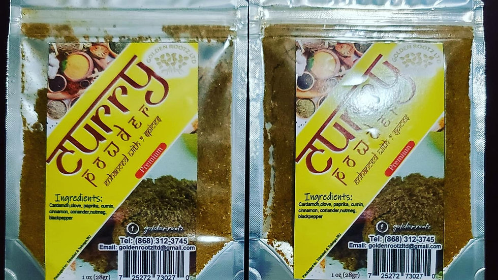CURRY POWDER ENHANCED WITH 7 SPICES  (2 PACKS)