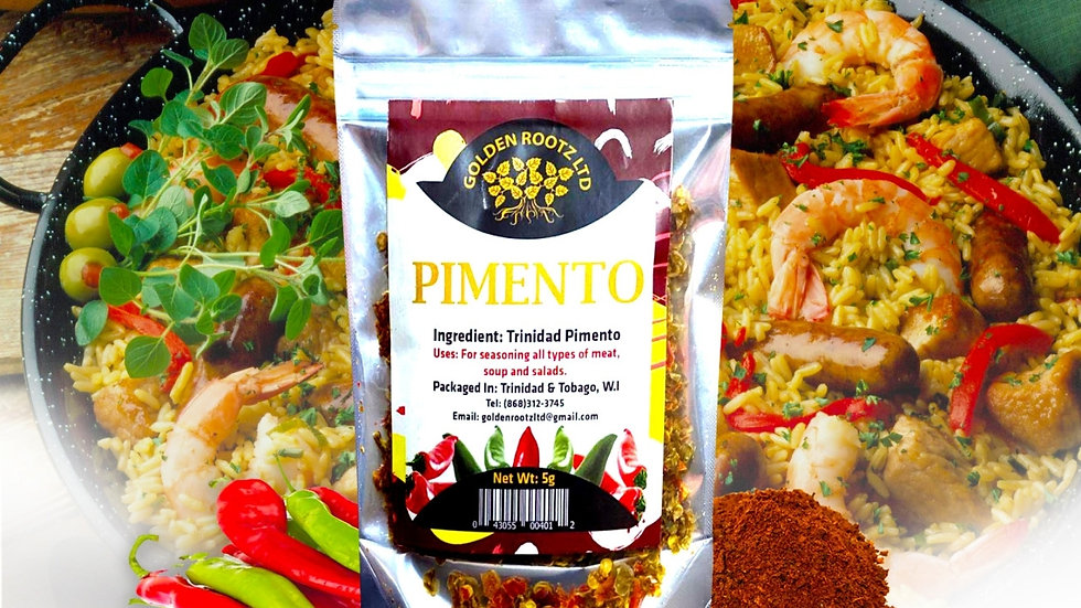 DEHYDRATED PIMENTOS INGREDIENTS : DEHYDRATED PIMENTOS PEPPERS 15grams