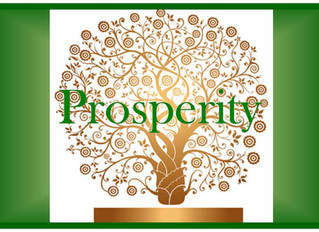 What is the difference between being wealthy and being prosperous?