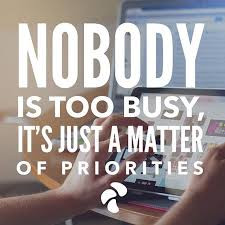 Stop being busy.