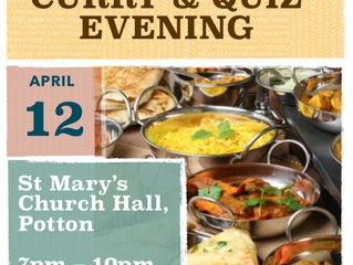 Curry and Quiz Night - 12th April'19