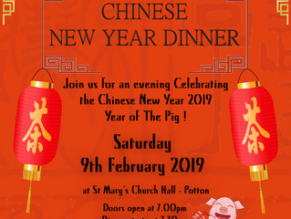Chinese New Year Dinner - Sat 9th February - Year of the Pig!