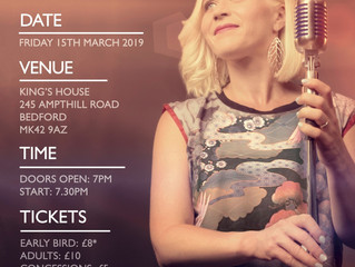 Lou Fellingham playing Live in Bedford Friday 15th March.
