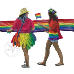 Pride Flag carriers.