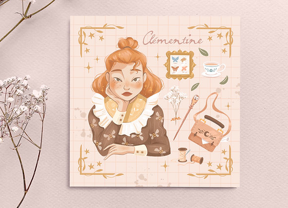 Square Card - Clementine