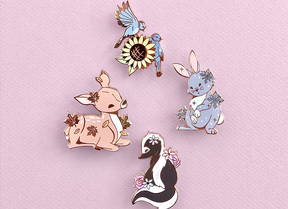 Lot complet - Pin's - Animaux 4 saisons