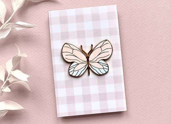 Pin's - Papillon rose