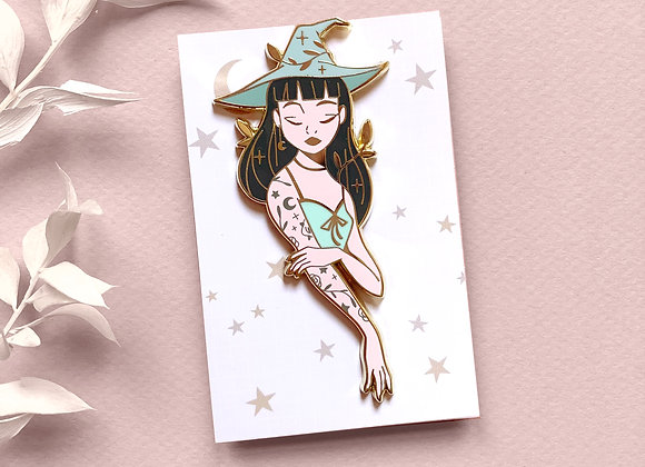 Pin - Green Witch