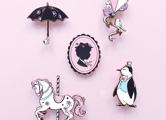 Lot broche et pin's Mary Poppins