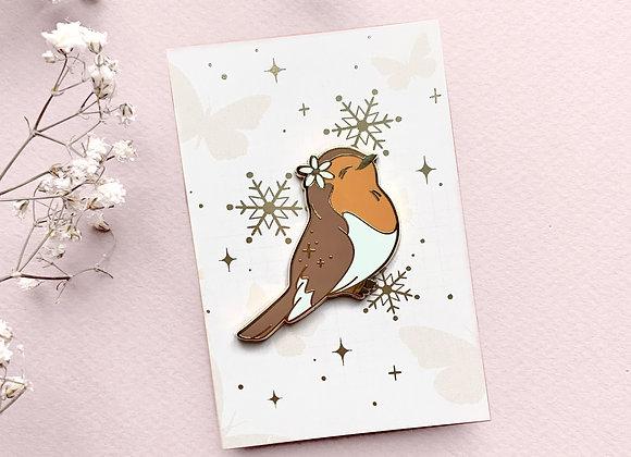 Pin - Winter bird