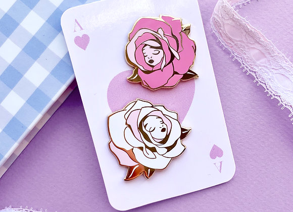 Pin's - Set de deux roses