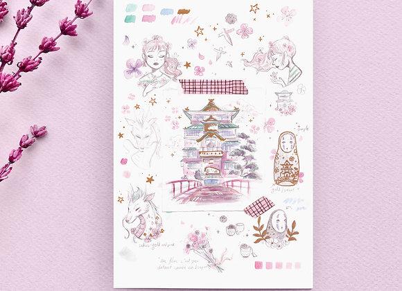Carte postale - Chihiro