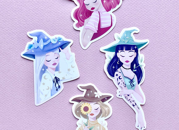 Witches Stickers - Whole set