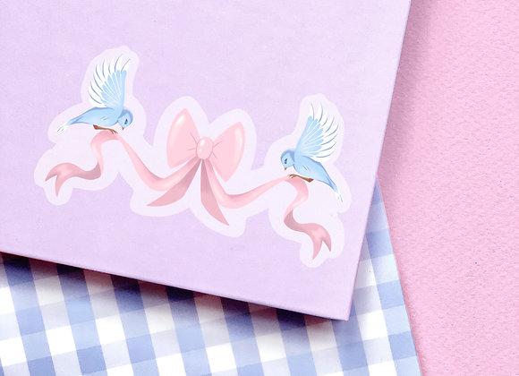 Sticker - Oiseaux & Ruban