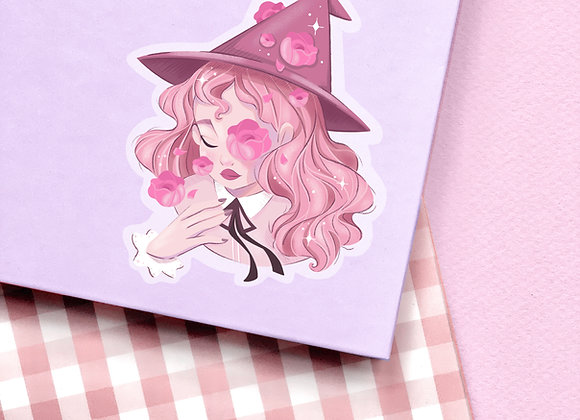 Sticker - Sorcière rose