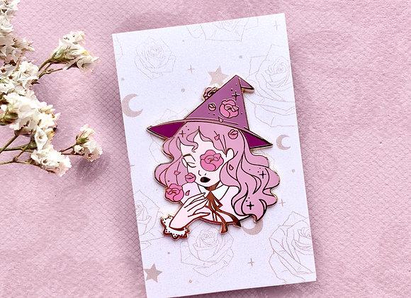 Pin's - Sorcière rose