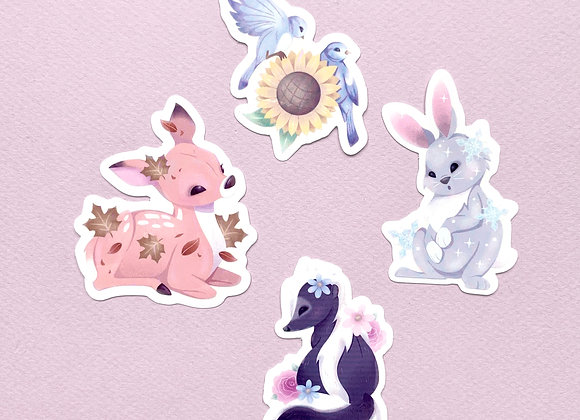 Stickers - Animaux 4 saisons - Lot complet