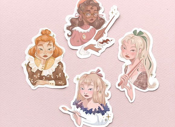 Lot complet - Stickers - Witches Wizard School