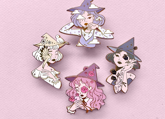 Lot complet - Pin's- Collection Witches