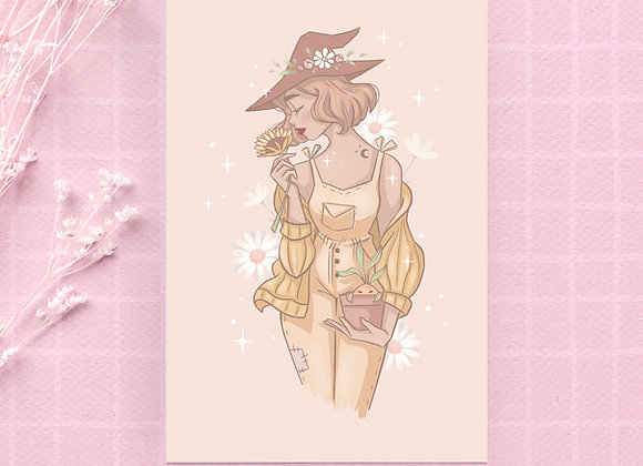 Postcard - Yellow Witch